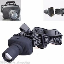 1W Headlamp Cycling Camping Fishing 3-Mode Zoomable Outdoor Mini Headlight UK