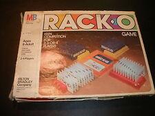 RackO Game Milton Bradley 1980 Rack-O 100% Complete
