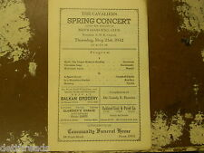 VINTAGE PROGRAM - May 21, 1942 - The Cavaliers Spring Concert - A.M.E. Church