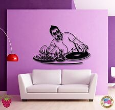 Wall Stickers Vinyl Decal DJ Dee Jay Night Clubs Music Youth  (z1850)