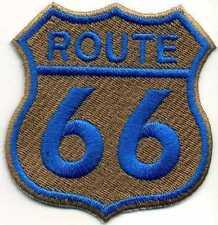 Toppa ricamata patch termoadesiva logo ROUTE 66 cm. 6,5 x 7