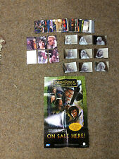 90 CARD BASE SET TOPPS LOTR MASTERPIECES 1 POSTER 9 AND 6 INSERT SETS
