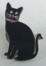 BLACK CAT - UK Imported Enamel Lapel Pin - Halloween Kitty - for all Cat lovers