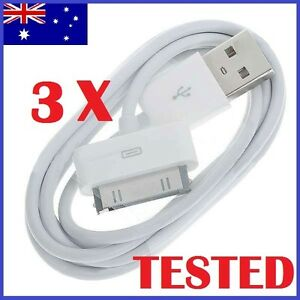 3X USB Sync Cable Charger for Apple iPhone 4 4S 3GS iPod Touch iPad Data Cord