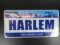 New York Harlem Plate Metal Sign Metal 30 CM USA, The Empire State