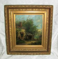 Antique American Oil On Board Painting William W. Boyle Circa 1860