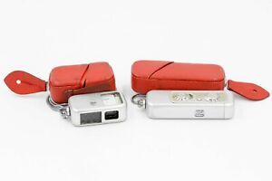 Minox III Spy Camera w/ Red Leather Case + Meter