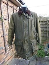 "Olive Green Barbour Border Waxed Wax Jacket / Coat Chest 40"" / 102cm, Hunting"