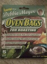 """Debbie Meyer Oven Bags For Roasting- 5 Large Bags- No Mess- 13.8"""" x 16.9"""""""