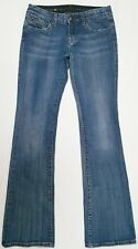 Rerock for Express women's jeans blue dark wash boot embroidered pockets size 2
