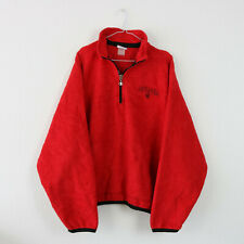 Vintage 90's Red Champion 1/4 Zip Fleece Sweatshirt Jumper | XL
