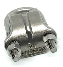 "Gibson 1075 Stainless Steel 3/4"" U-Bolt & Saddle Right-Angle Clamp 316SS"