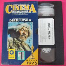 VHS film DERSU UZALA Akira Kurosawa CAPOLAVORI CINEMA INTERNAZIONALE(F181)no dvd