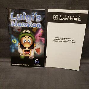 Instruction Manual Booklet ONLY Luigi's Mansion Gamecube GC