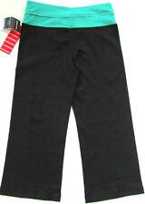Costco Kirkland Reversible Capri Yoga Gym Pants Leggings Medium Black & Green