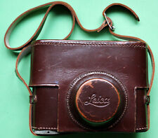 """LEITZ / LEICA II/III brown leather case, 3/8"""" thread fitting, excellent"""