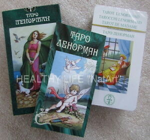 Tarot cards Lenorman High Quality карты Таро Ленорман russian manual made in EU!