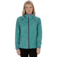 Regatta Harty Womens Stretch Warm Walking Hiking Golf Full Zip Jacket Green