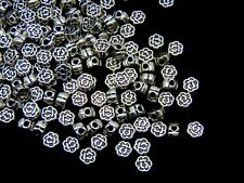 80 Pcs Tibetan Silver  Dainty Rose Flower Spacer Beads 5mm Beading  S124