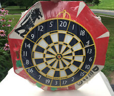 Vintage DECO Brand Double Sided Dart Board England New Old Stock Sealed