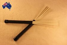 Drum Brushes of plastic sticks with Rubber Handles NEW
