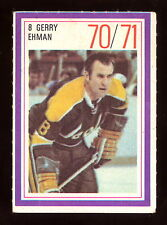 1970-71 ESSO POWER PLAYERS NHL #8 GERRY EHMAN EX COND GOLDEN SEALS UNUSED STAMP