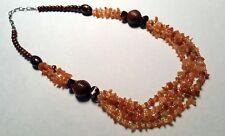 Cornalina-astilla cadena con madera perlas * piedras preciosas * minerales * Heil piedras