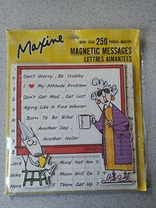 Hallmark Maxine 250 Magnetic Messages Letters New 2012