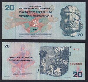 Cecoslovacchia 20 korun 1970 BB/VF  A-04