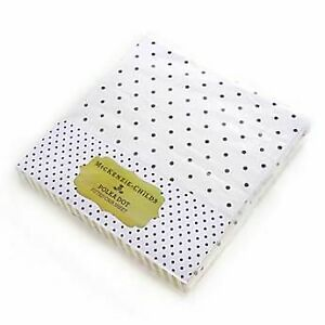 Mackenzie Childs WHITE W/BLACK POLKA DOT FITTED 100% COTTON CRIB SHEET NEW $30