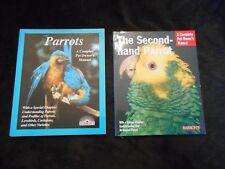 2 Parrot Books Bird books