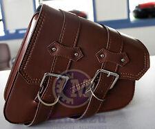 Brown PU Leather Solo Right Side saddleBag Saddle Bag for Harley Sportster