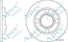 1x OE Quality Replacement Front Axle Apec Solid Brake Disc 4 Stud 240mm - Single