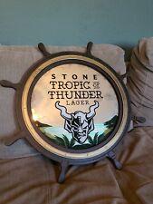 "Stone Tropic Of Thunder Captains Wheel Round Mirror Bar Man Cave- 24"" Round- New"