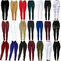 Fashion Women High Waist Pencil Pants Stretch Skinny Trousers Jegging Pants Chic