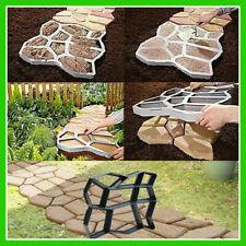 Garden Driveway Paving Pavement Mold Concrete Step Stone Path Maker Walkway Mold