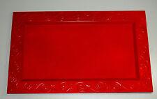 rechtekiges Tablett ROT matt ALESSI APO1 Placentarius Anonimo Pompeiano 57,5 cm