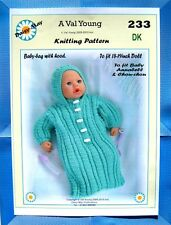 1 DOLLS KNITTING PATTERN by Val Young 4 ANNABELL *233* to fit 16 to 18 inch doll