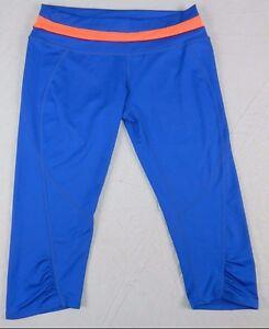 Womens pants GIANNI BINNI size MEDIUM capri cropped workout fitted (kn57)