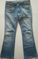 7 For All Mankind Womens Bootcut Denim Jeans Size 28 Blue A Pocket Light Wash