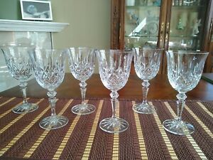 "Galway Irish Crystal Longford 7"" Wine Glasses - Set Of Six"