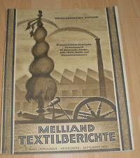 dachbodenfund fach zeitschrift textilbericht textil industrie melliand 1929 alt