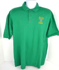 Tennessee Lady Vols STAFF Logo Embroidered Green Polo Golf Shirt Adult Large New