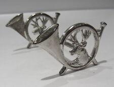 Vintage German Silver Plate SILVERPLATED STAG Carving KNIFE REST Hunt Horn Deer