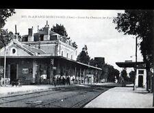 SAINT-AMAND-MONTROND (18) GARE Coté QUAI animé début 1900