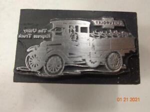 Printing Letterpress Printer Block Decorative Vintage Chevrolet Truck Print Cut