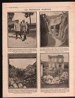 WWI Poilus Bataille d'Artois Maréchal Joffre Général d'Urbal  1915 ILLUSTRATION