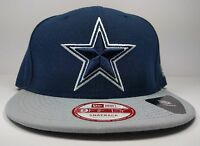 New Era Dallas Cowboys 9Fifty 2 Tone Logo Bind Snapback Hat Cap Gray Black NFL