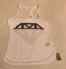 **REEBOK** FITNESS ATHLETIC FITNESS TOP RACER BACK White L Large