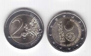 ESTONIA  BIMETAL 2 EURO UNC COIN 2018 YEAR SADA